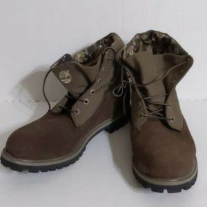 Timberland Single Roll Top Camo Millitary Boots